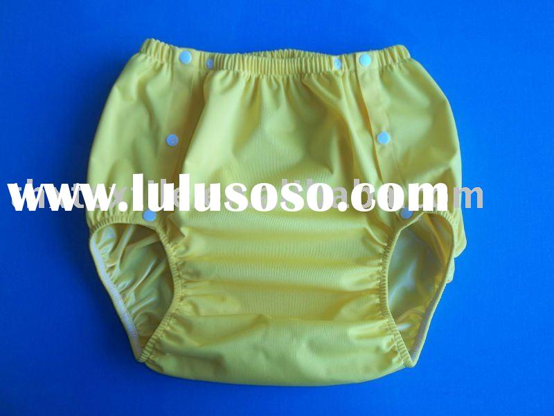 Soft, waterproof and breathable adult cloth diaper cover