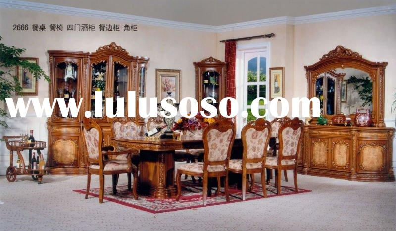 Solid Wood Dining Room Set (ALD-2666)