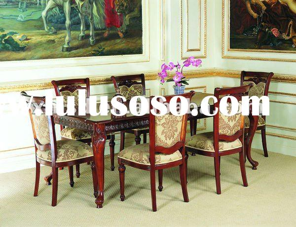 Solid mahogany wood dining room furniture,table and chair set