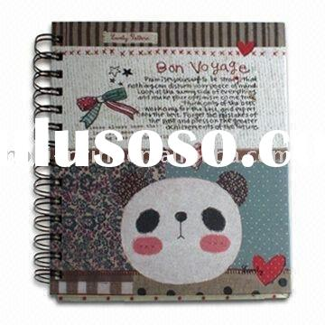 Spiral Notebook with Art Paper, 4 Color Printing and Coated Chipboard Cover