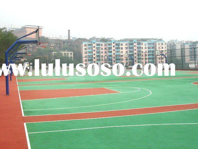 Sports Equipment,Rubber Sports Flooring,Shock-Absorption Rubber Basketball Court With PU Coating
