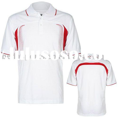 Sports T Shirts Polo Shirts With Polyester Pique Silk Screen Printing