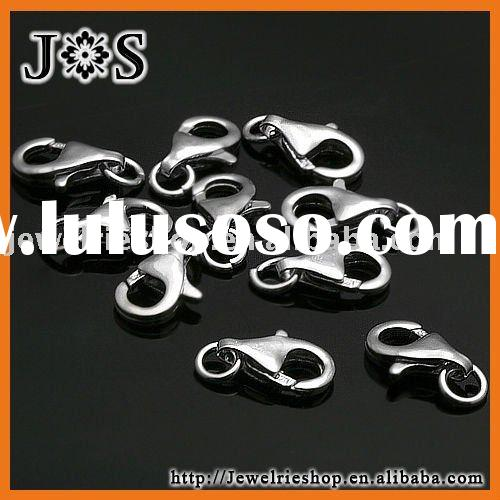 Stainless Sterling Silver Jewelry Trigger Clasp Findings With Spring Ring
