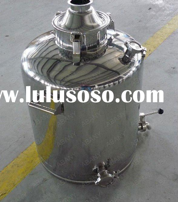 Stainless steel alcohol distiller with sanitary fittings