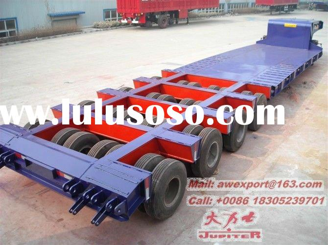 Strong Quality 100 Tons Loading Gooseneck Lowbed Or Low bed Truck Semi Trailers Or Semi-trailer truc