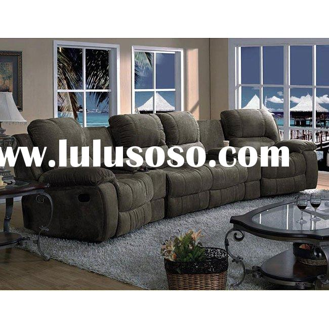 Suede 5-piece Reclining Sectional Sofa(Xian79)
