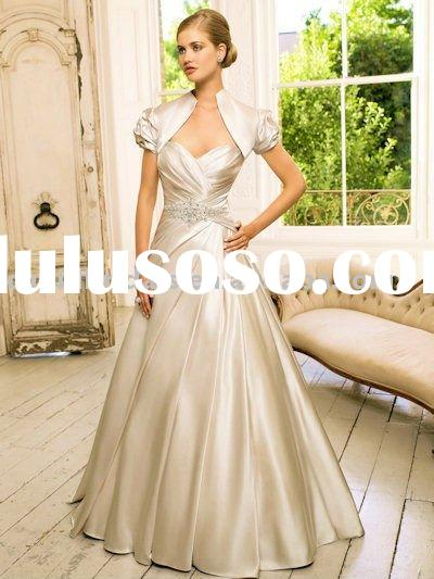 Sweetheart A-line wedding dress gown with beading CBW10488