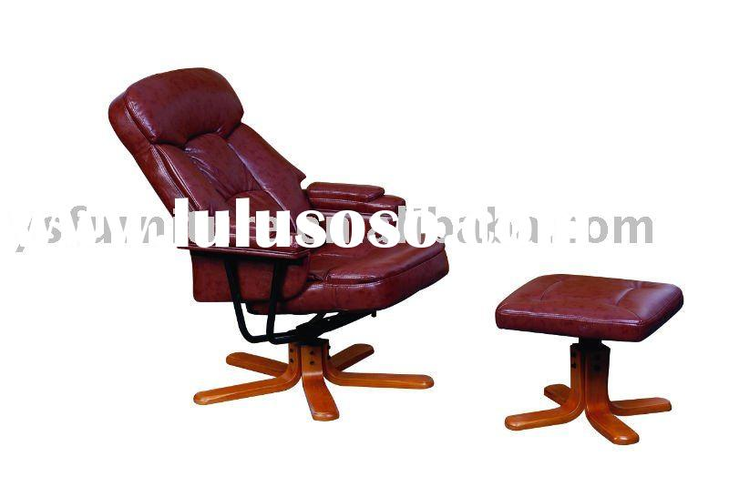 Swivel Armchairs with footstool
