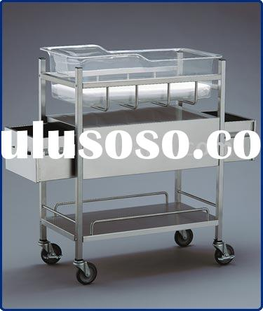 THR-B004 stainless steel hospital baby crib with drawers