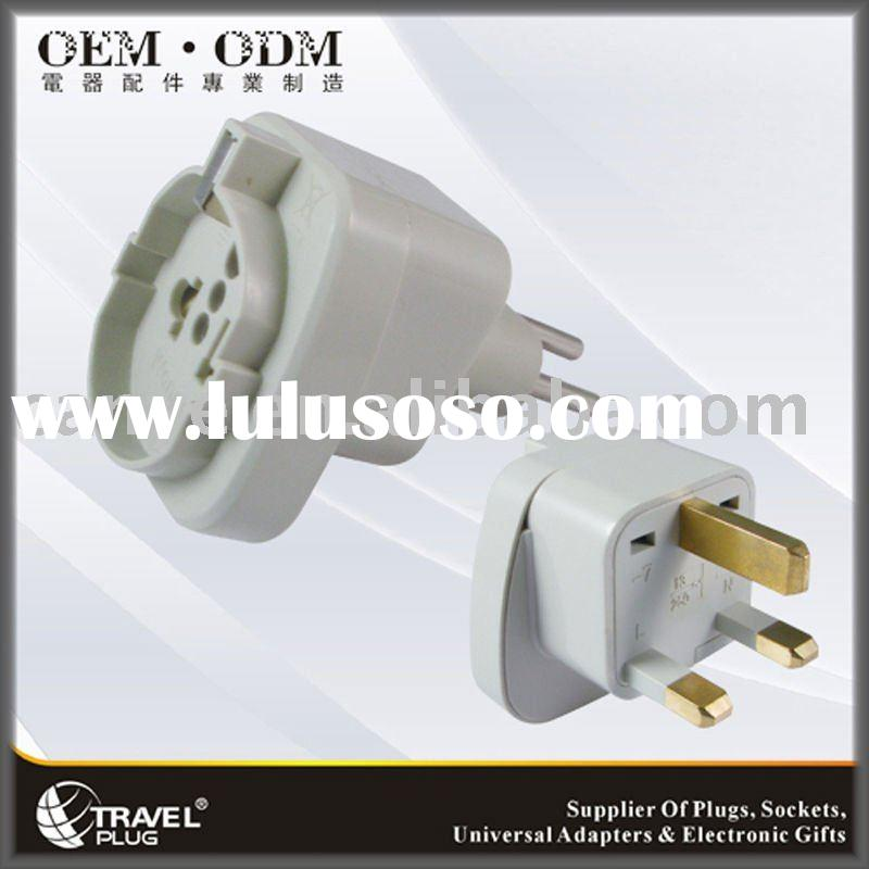 TRAVEL PLUG WASGF-7 Best Plug Adapter/Universal TO UK Plug Adapter with 13A 250V