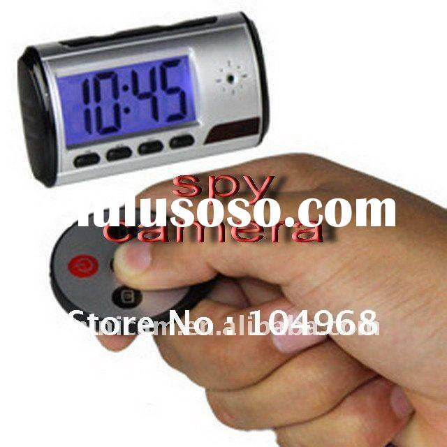 Table Clock Camera with Remote Control dvr