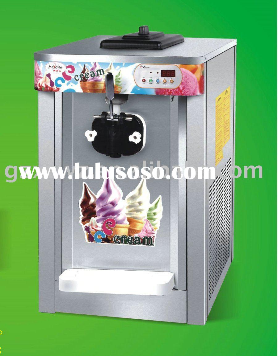 Table top soft Ice Cream Machine(stainless steel)