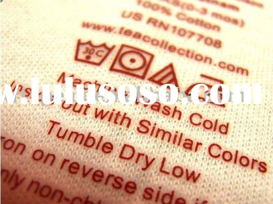 Tagless Thermal Transfer fabric Main Care label Iron-on Heat Transfer label Printing Garment Apparel