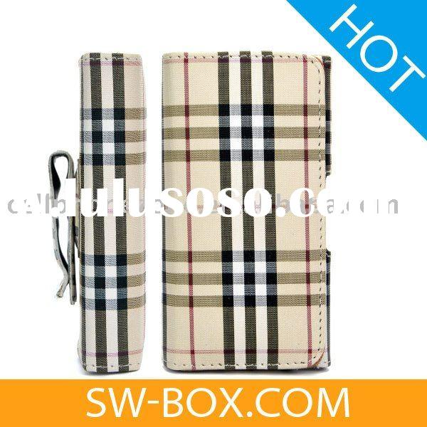 Tartan Pattern Wallet Style Magnetic Flip Texture Soft Leather Case for iPhone 3GS iPhone 3G iPhone