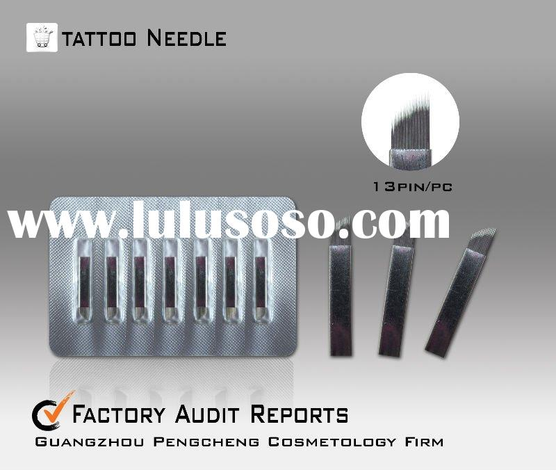 Tattoo eyebrow needle permanent makeup manual pen needle --CO8