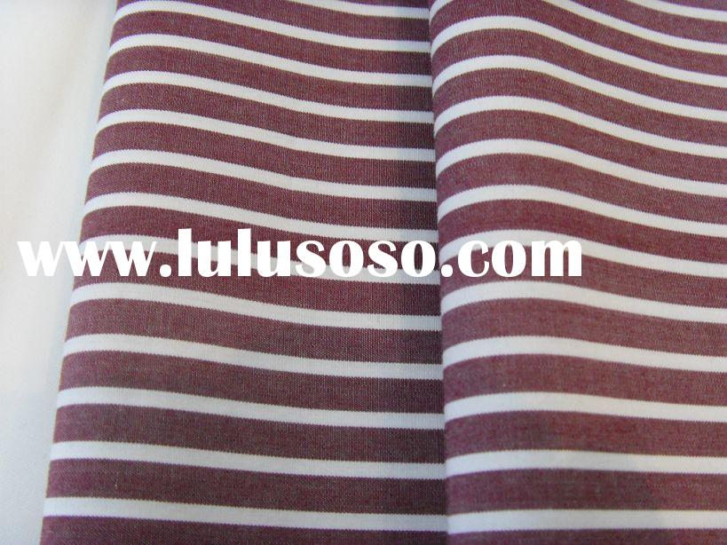 Tc 65/35 yarn dyed stripe fabric for men's shirting