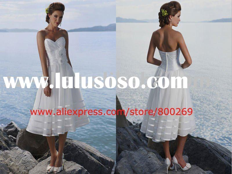 Tea-length beach wedding dress 2011 SL-4376
