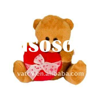 Teddy Bear with a Red Heart Valentine Plush Toys