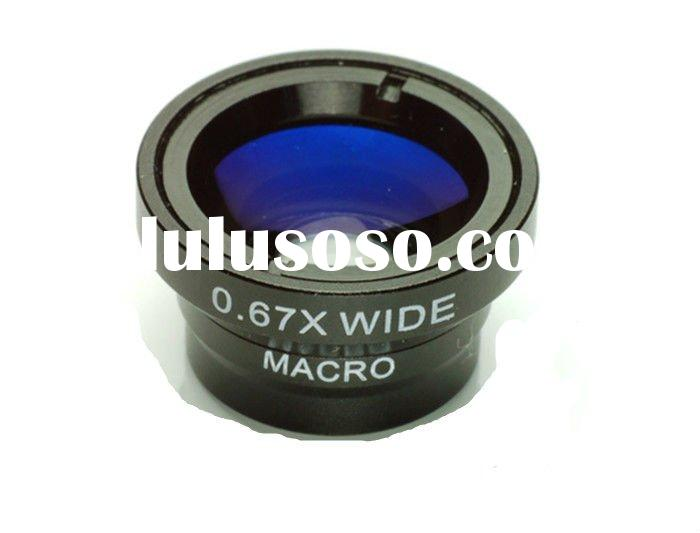 Telephone wide angle lens and macro lens kits for iphone or mobilephone or digital camera etc.