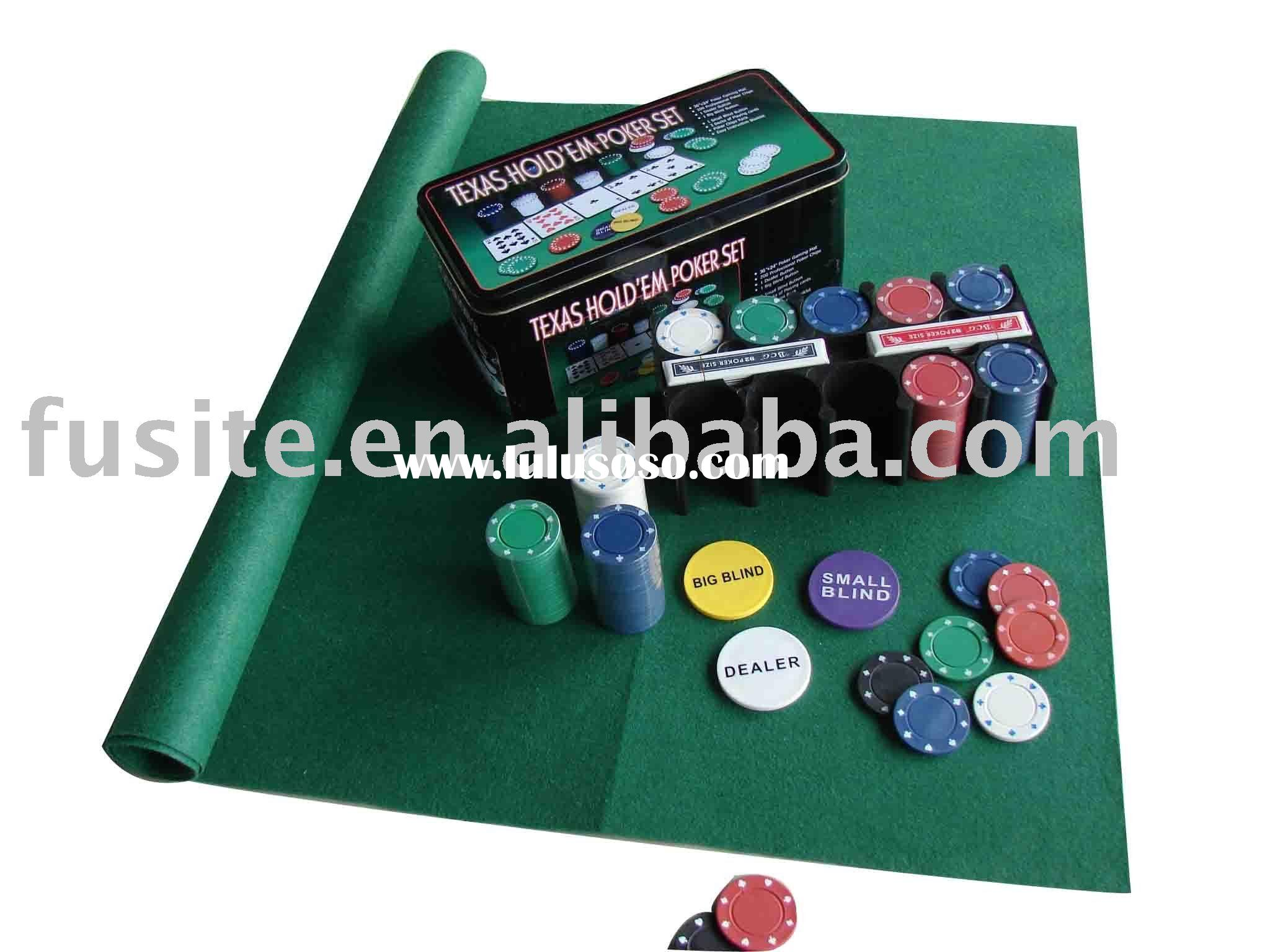 Texas Hold'em Metal Poker Chip Set
