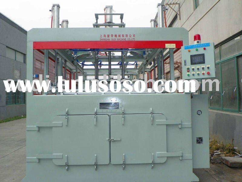 Thick sheet plastic vacuum forming machine
