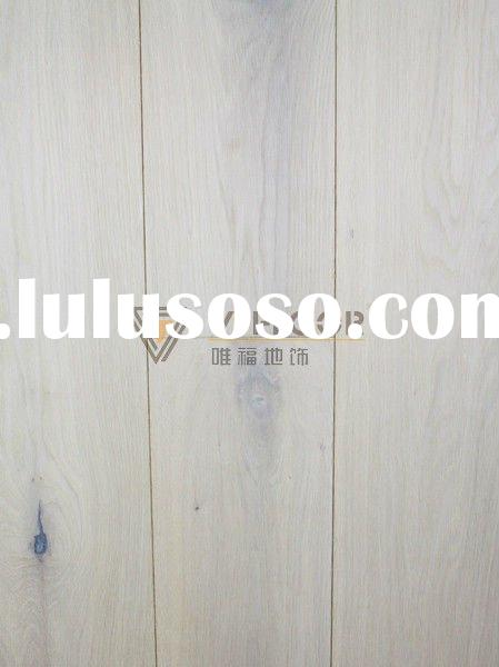 Three layer rustic white oiled oak engineered wood flooring