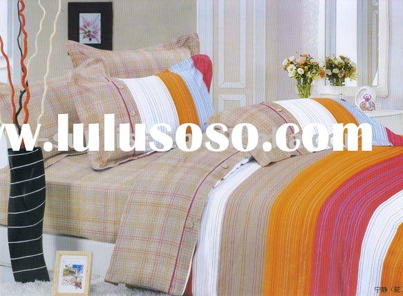 Tranquility 100%cotton pigment printing 4pcs bedding set/pillow case/bed sheet/flat sheet/quilt cove