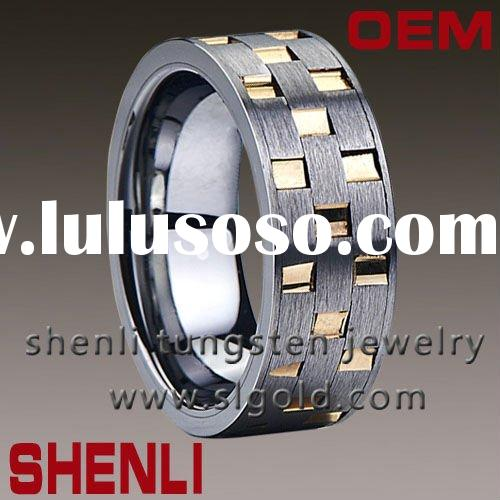 Tungsten carbide wedding rings for men gola plating