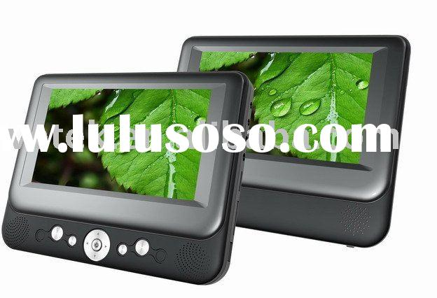 Twin 7 inch Portable DVD Player with 7inch Mointor