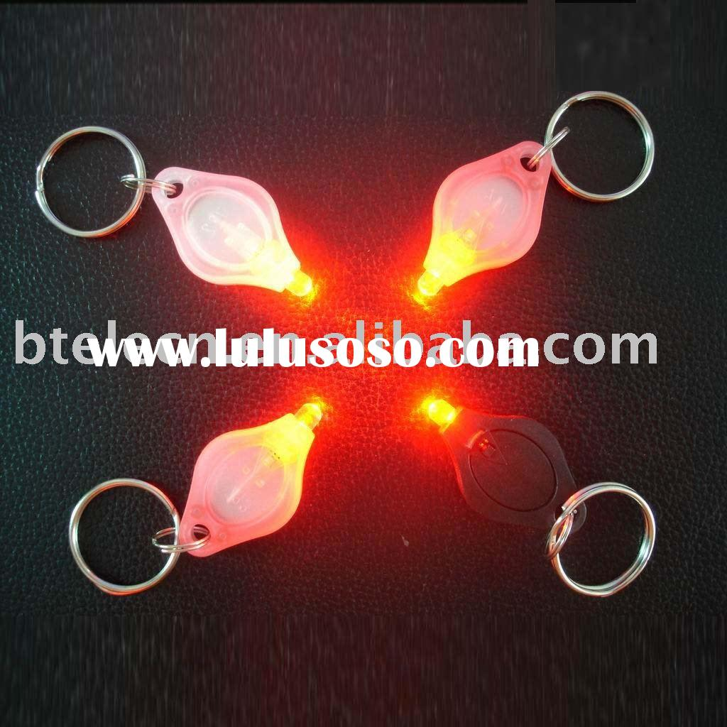 Two Power on way led mini flashlight key chain,mini torch,keychain flashlight,mini light keyring