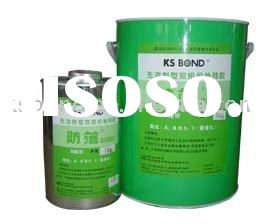 Two component polyurethane flooring adhesive