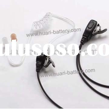 Two way radio acoustic tube earpiece/2 way radio earphone /walkie talkie earphone