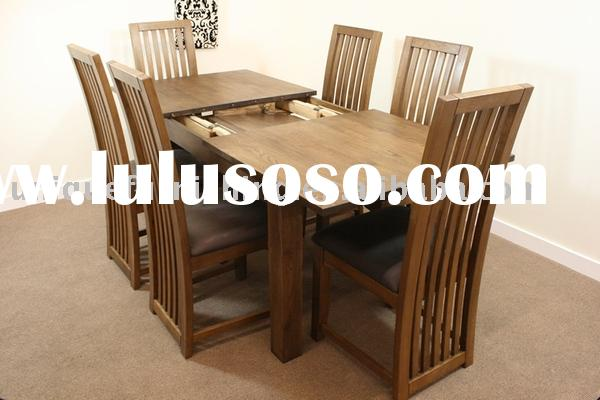 UCF0027 Solid Oak Wood Dining Table, Dining Chair