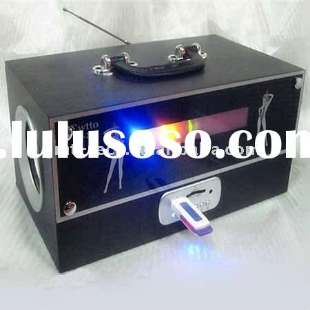 USB flash Stereo Speaker with Card Reader FM radio, and SD/MMC card support