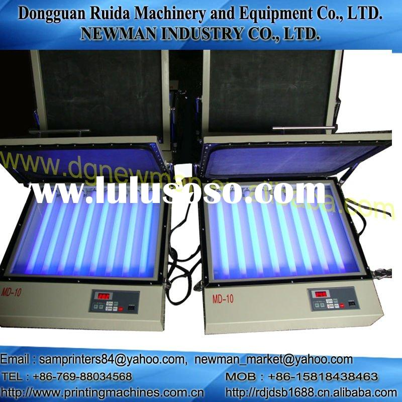 UV exposure unit for silk screen printing machine