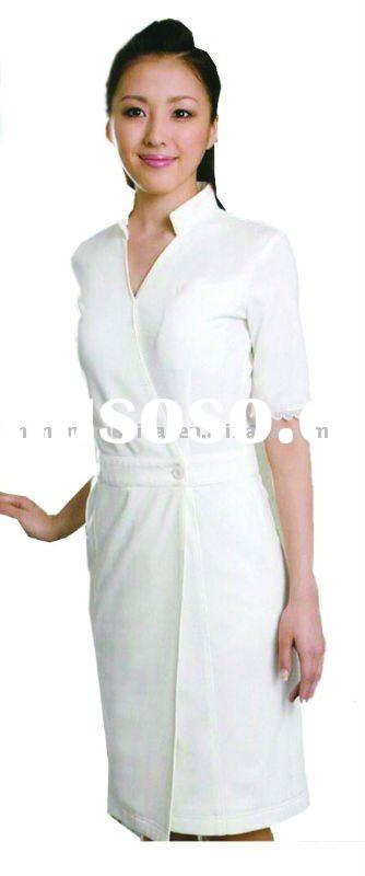 The gallery for clinic receptionist uniform for Spa uniform colors
