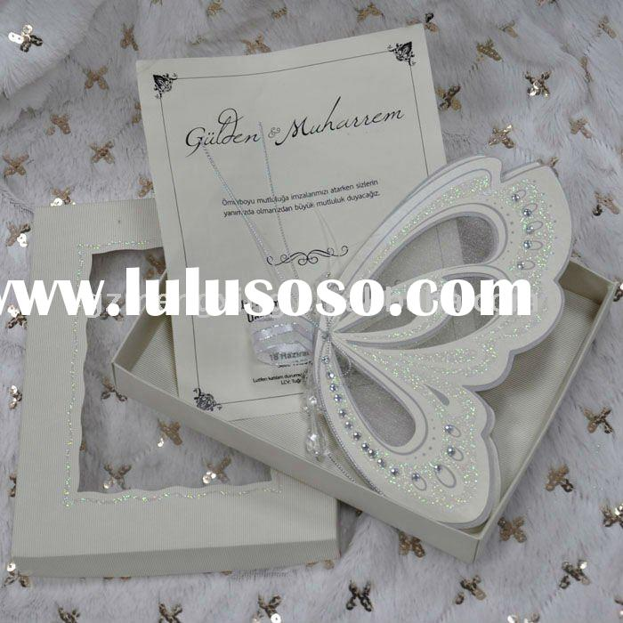 Unique butterfly shape wedding invitation card with personal information---T192