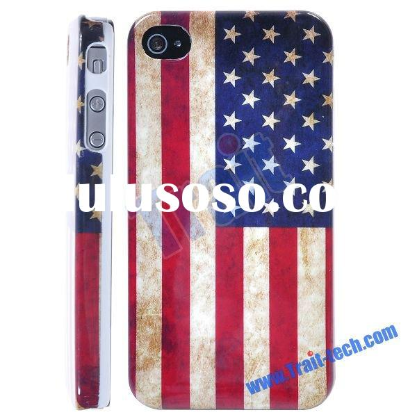 United States US Flag Hard Back Cover Case for iPhone 4/iPhone 4S