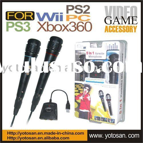 Universal Microphone for Wii PS3 PS2 Xbox360 PC video game accessory