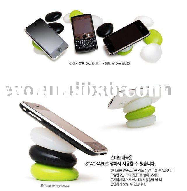 Universal Orange Silicone Suction Cup Stand for apple iphone 4