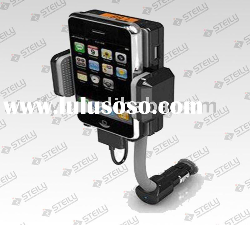 Universal car fm transmitter charger dock for ipod iphone cellphone dvd cd all media player
