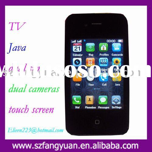 Unlocked TV cellphones F8 with dual sim and java phone