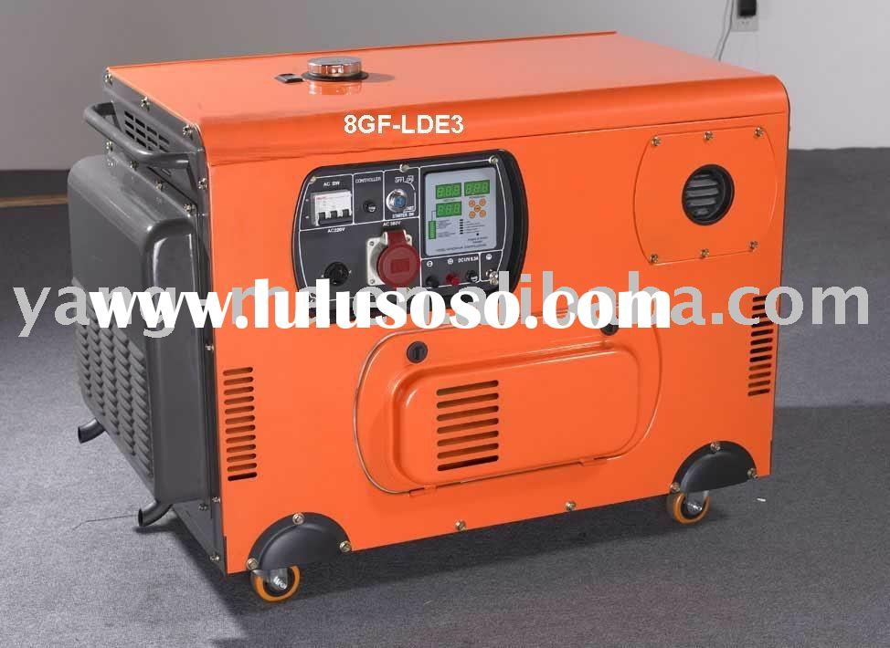 V-twin double cylinder Air cooled engine power electric silent diesel generator 10KW