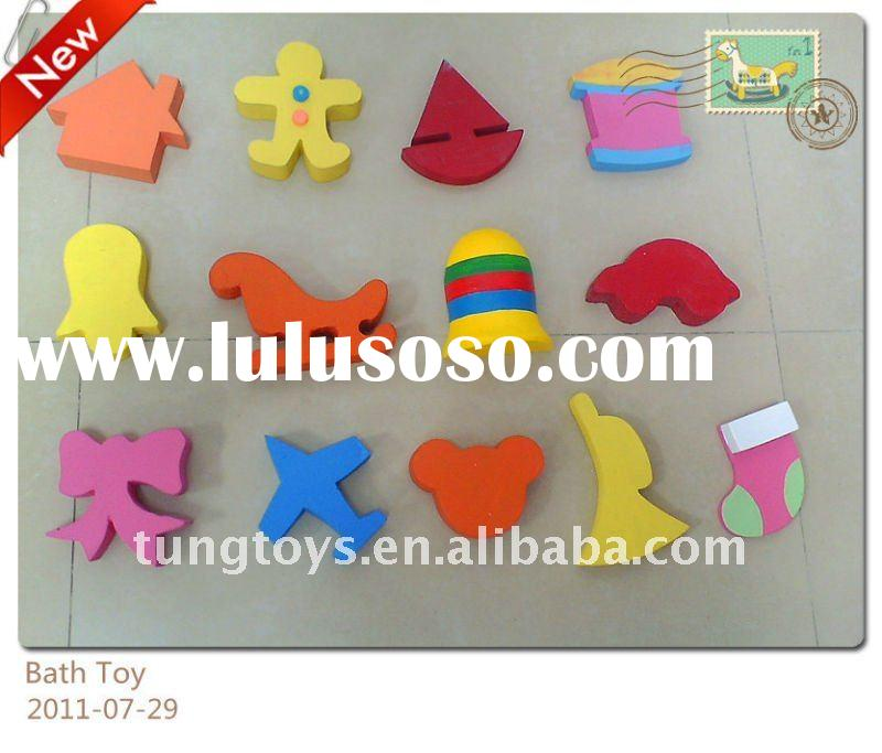 Various foam shape toys