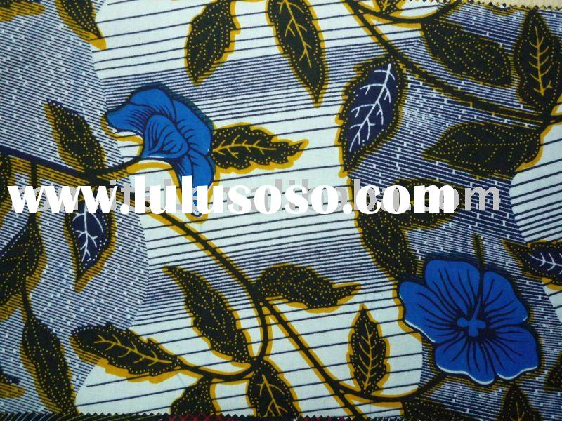 Veritable African guaranteed wax block print cotton fabric!!(10)