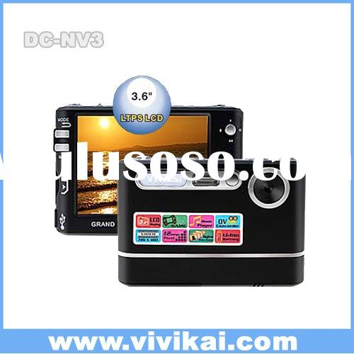 Vivikai Digital camera,video camera,mp3 playing,pc cam,voice recording+3.6 inch LCD