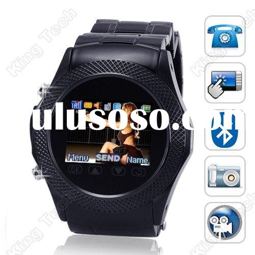 W960 GSM Quad Band Bluetooth FM Camera Touch Screen MP3 Mobile Watch Phone