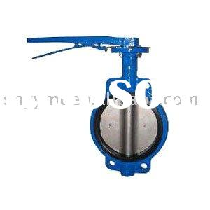 Wafer butterfly valve,handle or wormgear, pneumatic, electric actuator