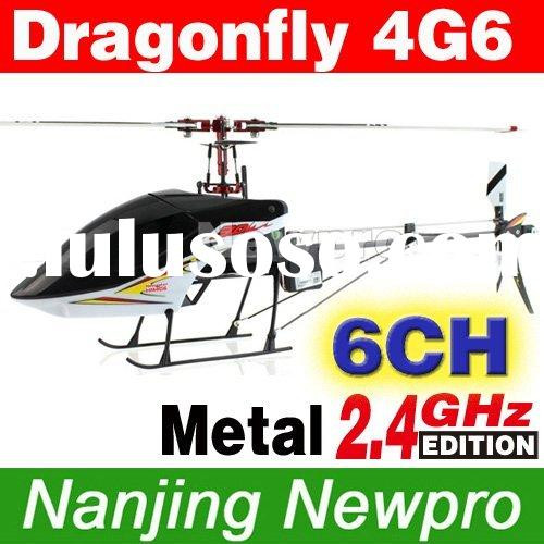 Walkera Dragonfly 4G6 6CH Metal RC Helicopter RTF 2.4GHz w/ Brushless Motor, 8CH WK-2801 Pro Transmi