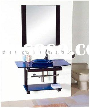 Wall Hung Glass Vanity,Bathroom Vanity